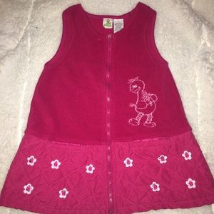 Vintage Sesame Street Hot Pink Puffer Dress 4T